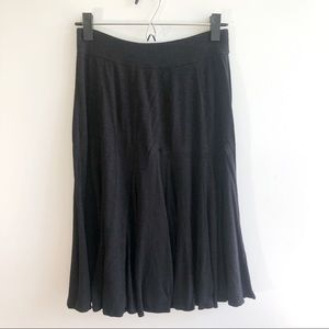 Christopher & Banks Black Swing Skirt